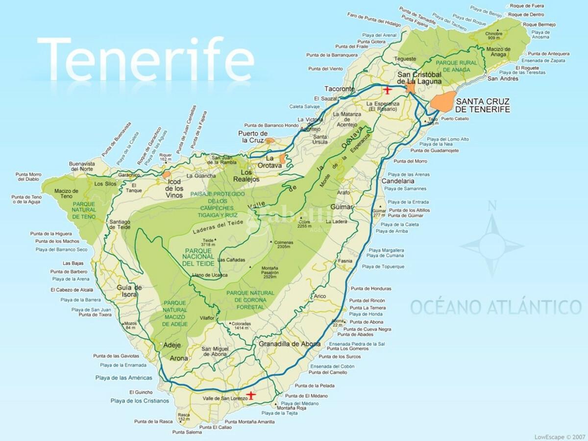 Isola Tenerife Cartina.Tenerife Paradiso Naturalistico E Climatico A Solo 4 Ore Di Volo
